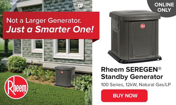 Rheem SEREGEN 100 Series Generator
