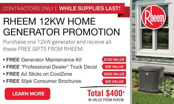 Rheem Gen12AD Dealer Promo