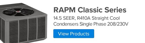 RAPM Classic Series, 14.5 SEER, R410A Straight Cool Condenser Single Phase 208/230V