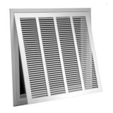 "Lima 001248 - #60GHFF Stamped-Face Return Air Filter Grille with Filter Frame, White Finish, 30"" X 10"""