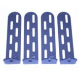 "TradePro TP-BMTD-04 - 4"" Tie Down Clip, Galvanized/Powder Coated (Bag of 4)"