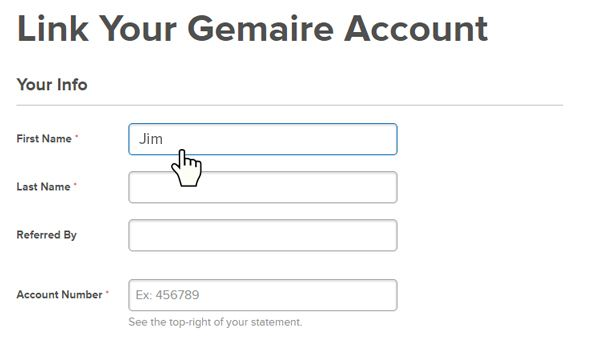 Linking Your Existing Gemaire Account Step 2