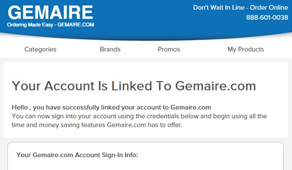 Linking Your Existing Gemaire Account Step 4