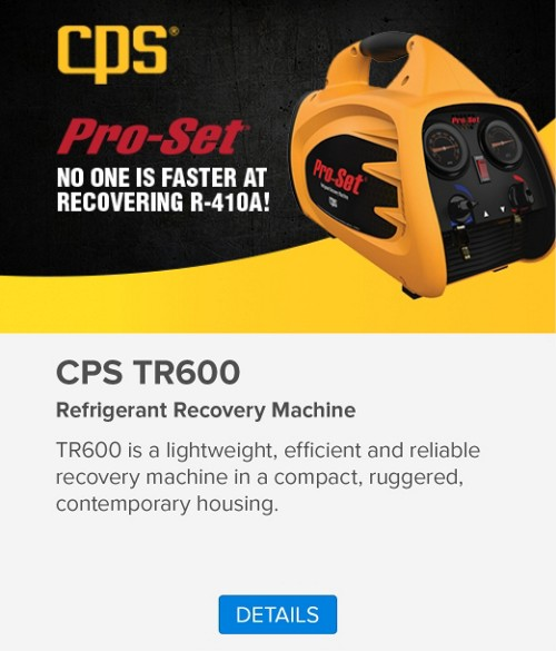 CPS Pro-Set Refrigerant Recovery Machine