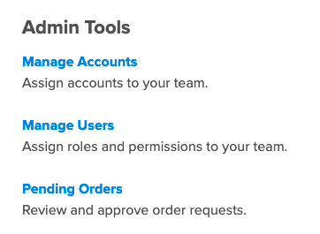 Manage Users section in Dashboard