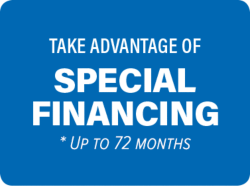 Take advantage of special financing