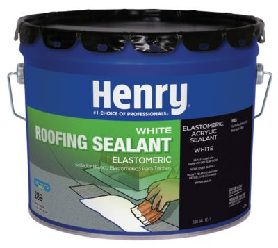 Henry HE289063   289 Roofing Sealant, White, 3.5 Gallon
