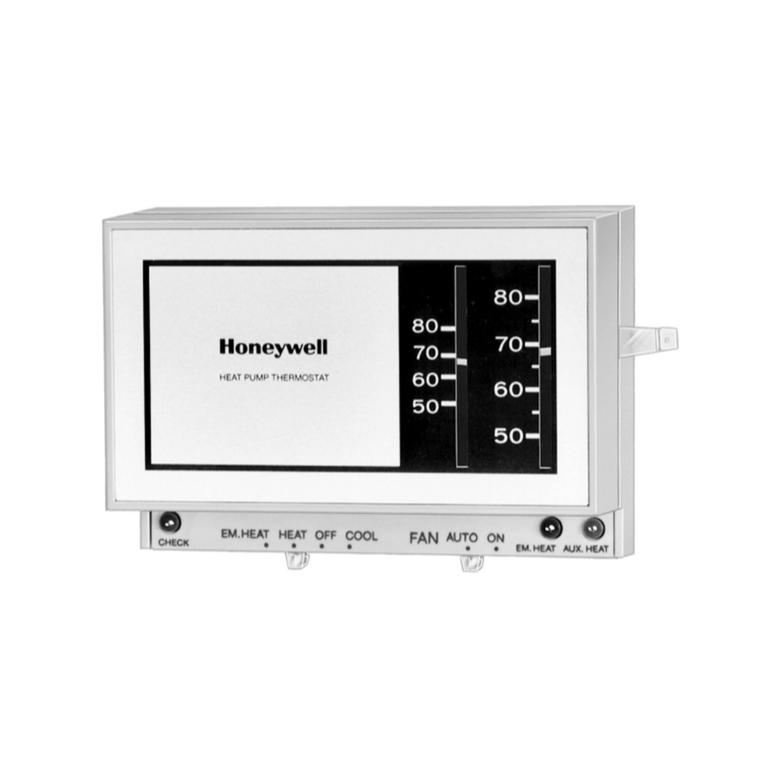 Manual thermostat ac economy heat cool simple analog basic.