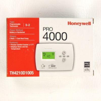 honeywell th4210d1005 pro 4000 digital programmable thermostat 2h rh gemaire com honeywell pro 4000 thermostat installation manual honeywell pro 4000 thermostat instructions