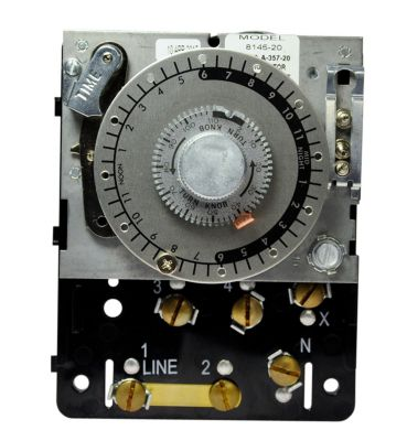 paragon 8145 20 commercial defrost timer, time initiated  paragon 8145 20 commercial defrost timer, time initiated, temperature or pressure terminated, 208 240v, switch spdt 1372691427062