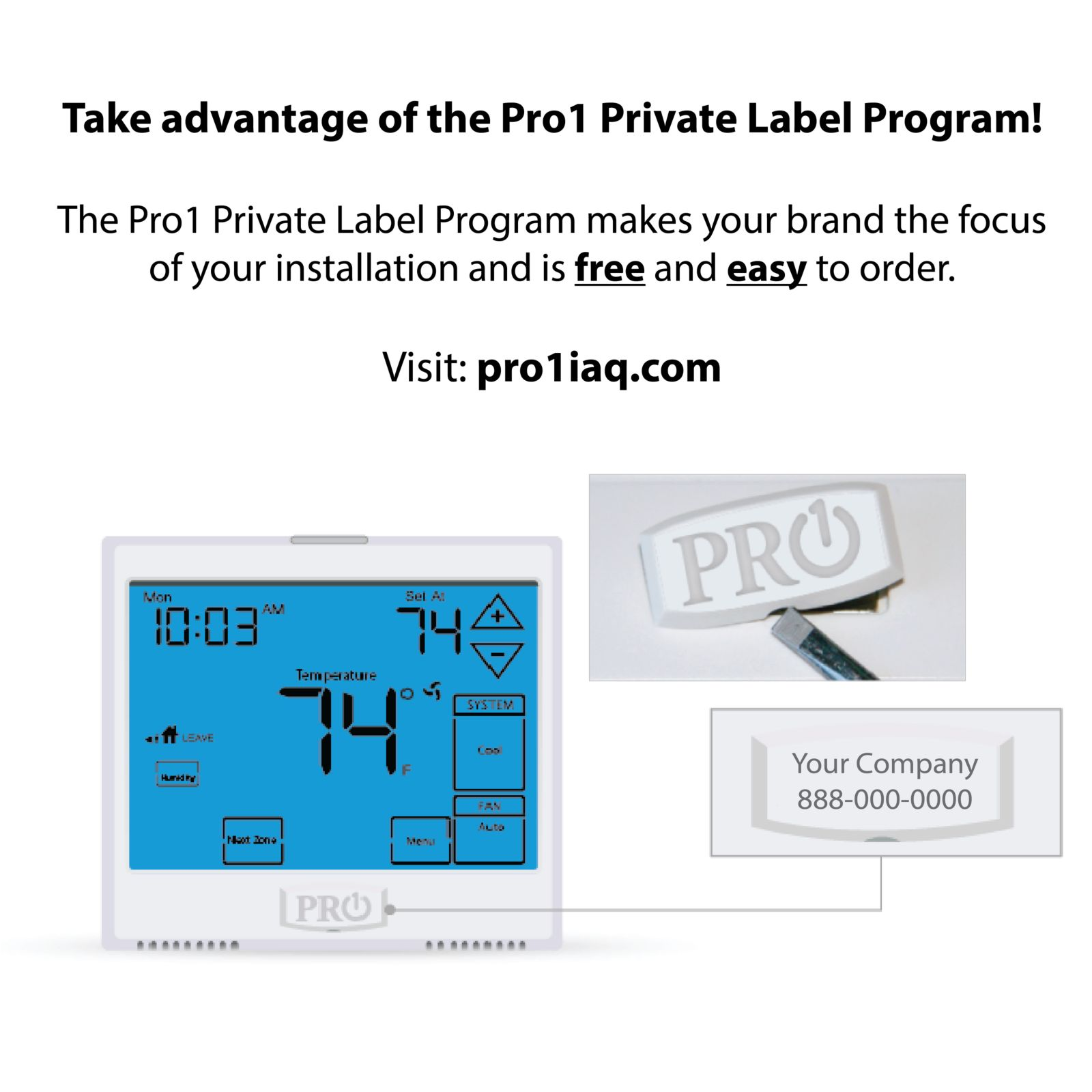Pro1 T721 - Non-Programmable Thermostat, 2H/1C Heat Pump With 4 ...