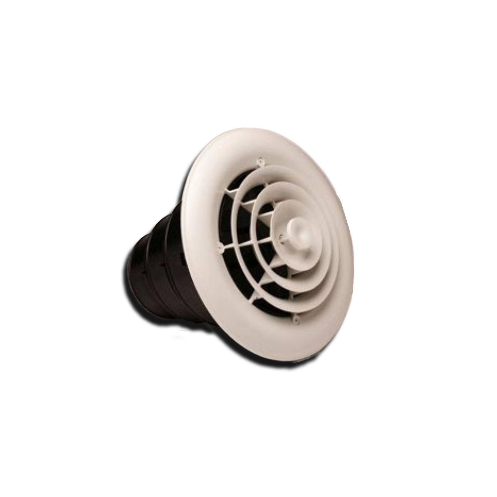 Rectorseal 81911 Mv360 8 Ceiling Diffuser With Round Grille Damper Box 6 7 Collar
